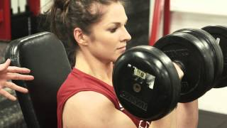 England Women Sevens workout:  Arnold Shoulder Press