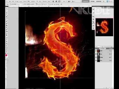 Как сделать горящее в фотошоп
