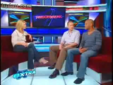 Wentworth Miller and Amaury Nolasco on Extra