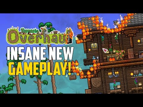 Terraria OVERHAUL! INSANE NEW GAMEPLAY MOD for Terraria!   New Weapons. Fires. Dodge Rolls!   PC Mod