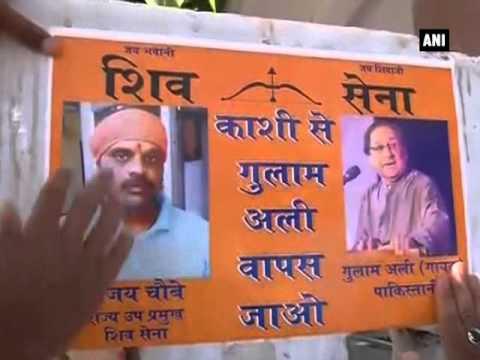 Shiv Sena stages protest against Ghulam Ali's Varanasi concert
