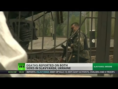 Civilians among the dead in besieged city of Slavyansk, Ukraine