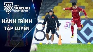 Bất chấp mưa lớn, Đội tuyển Việt Nam tỏ rõ quyết tâm ở buổi tập làm quen sân | VFF Channel