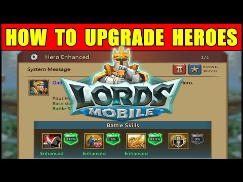 Lords Mobile: How to Upgrade Heroes in Lords Mobile ● New Player Tutorial Guide (Android Gameplay)