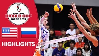 USA vs. RUSSIA - Highlights | Men's Volleyball World Cup 2019