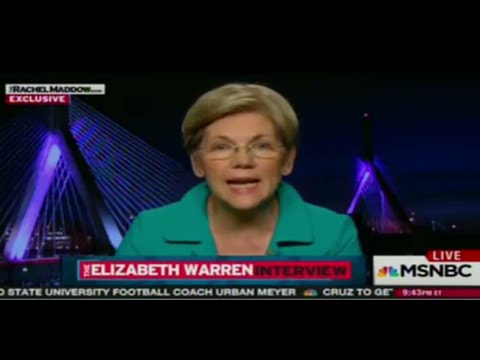 Elizabeth Warren interview March 2016 w MSNBC Rachel Maddow