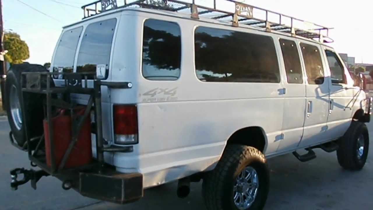 1997 Ford E350 Diesel Van 4x4 On 37 Inch Tires Youtube