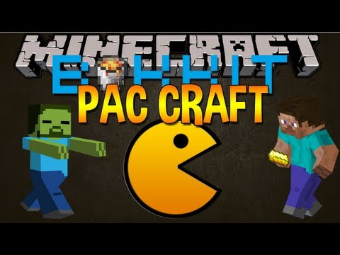 Minecraft Plugin: PAC CRAFT - PAC MAN IN MINECRAFT!