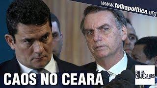 Bolsonaro elogia eficiência de Sergio Moro sobre conflito no Ceará e fala sobre divergência..