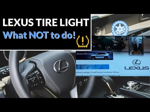 Lexus RX350 Tire light fix-WHAT NOT TO DO-Toyota-TPMS-Low Pressure Warning Monitor