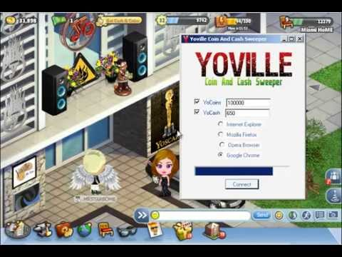 Yoville coins and cash sweeper for Pub cash piscine