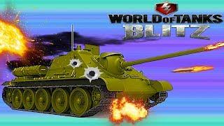 WORLD OF TANKS BLITZ#16 СУ-85 Улучшаем танки. Меняем пушки  Танковая игра .Новое видео для детей