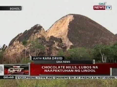 QRT: Chocolate hills sa Bohol, lubos na naapektuhan ng lindol