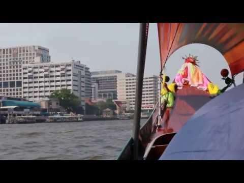 2013 Bangkok Chao Phraya River Longtail Boat Tour Thailand HD