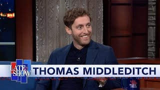 Thomas Middleditch Does A Great Impression Of His English Dad