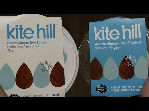 Kite Hill Vegan Cheese Taste Test (Soft Fresh Original & Cream Cheese Style Spread Reviews)