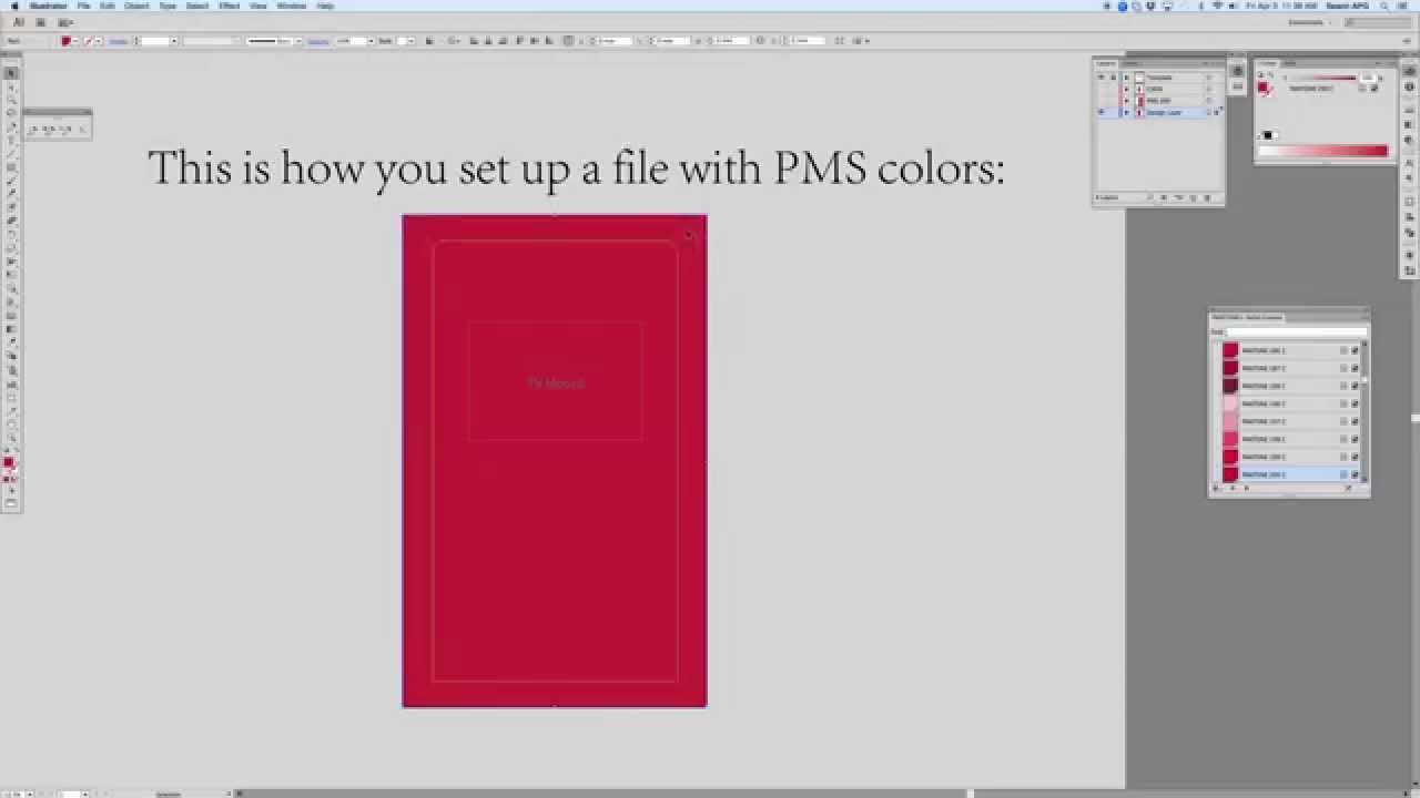 Pantone Colors Artwork Assigning Pms/pantone Colors