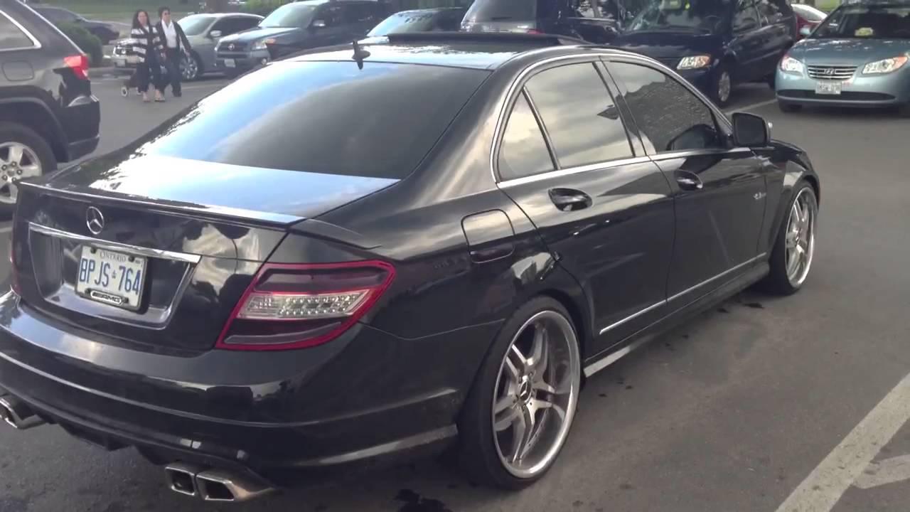 2009 Mercedes Benz C300 Amg Dual Exhaust Youtube