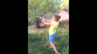 12 YEAR OLD GIRL SHOOTS AND KILLS LION PRIDE WITH .44 MAGNUM