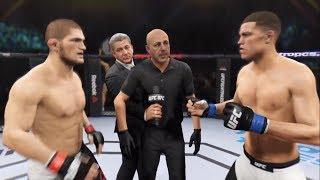 Khabib Nurmagomedov vs Nate Diaz (EA Sports UFC 2) - CPU vs. CPU