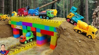 Bridge Construction Vehicles toys for children Fire Truck, Dump Truck for kids Nursery Rhymes