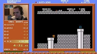 Super Mario Bros. Speedrun in 4:56.462