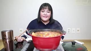 MUKBANG KOREAN : chị soobin ăn lẩu nhìn ngon quá ❤