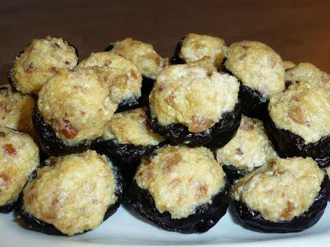 🔴Чернослив фаршированный творогом, орехами и медом!Очень вкусный десерт!