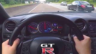 Nissan GTR Onboard POV 0300 Acceleration Autobahn