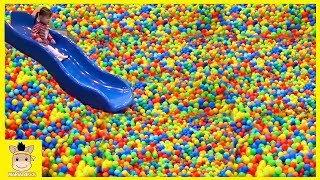 Indoor Playground Fun for Kids and Family Play Colors Slide Rainbow Balls   MariAndKids Toys