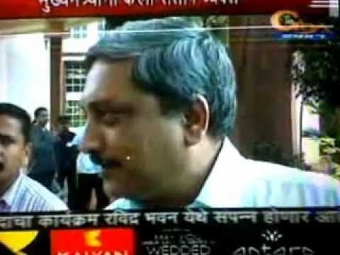Goa CM Manohar Parrikar In Angry Mood...............!!!