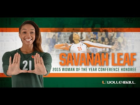 Savanah Leaf - 2015 NCAA Woman of the Year Nominee