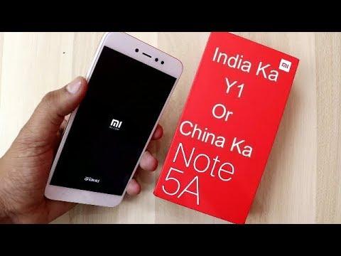 Xiaomi Redmi Note 5A Unboxing & India Ka Xiaomi Y1 Unboxing !! HINDI