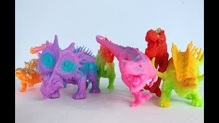 Show all dinosaurs colors of toys and it's sound by khmer kids toys