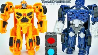 Transformers All Spark Tech Barricade Bumblebee Change in 5 Steps The Last Knight toys
