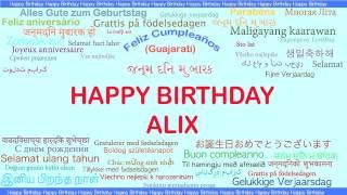Alix   Languages Idiomas - Happy Birthday