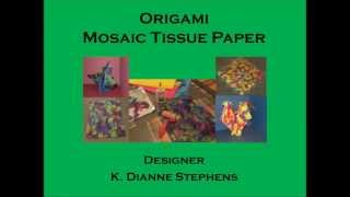 Origami Mosaic Tissue Paper - A How To Video