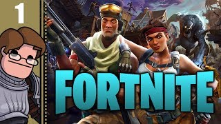 Let's Play Fortnite Co-op Part 1 - Mandatory Solo Tutorial These Games Always Have