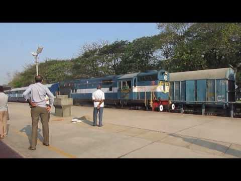 The First Official Run Of 22636 Mangalore Madgaon Intercity Superfast Express video