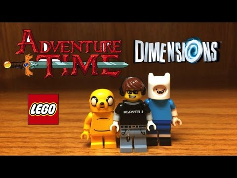 LEGO Dimensions Adventure Time Finn and Jake Minifigures Review!! Wave 6
