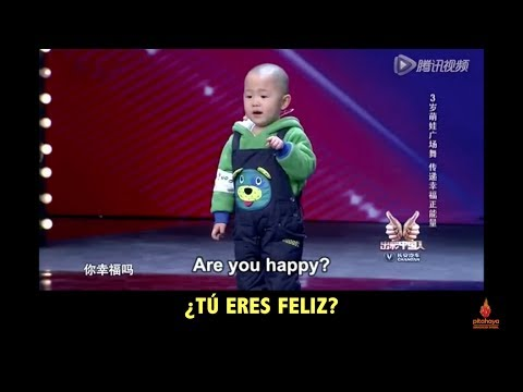 Adorable 3 year old is very happy to dance! Subtítulos español spanish