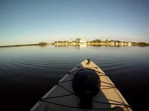 Kayak fishing for trout in Pine Island