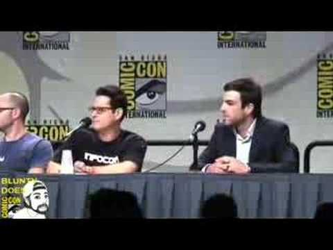 Star Trek Panel at Comic-Con. The TWO SPOCKS!