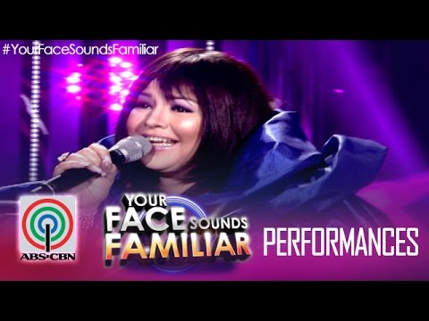 Your Face Sounds Familiar: Karla Estrada as Sharon Cuneta -