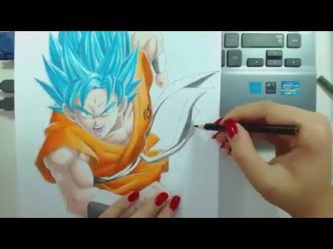 Speed Drawing - Goku SSGSS (Dragon Ball)