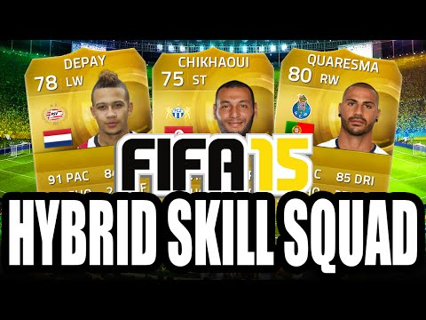 FIFA 15 Ultimate Team   Hybrid Skill Squad Ft. Quaresma and more!!