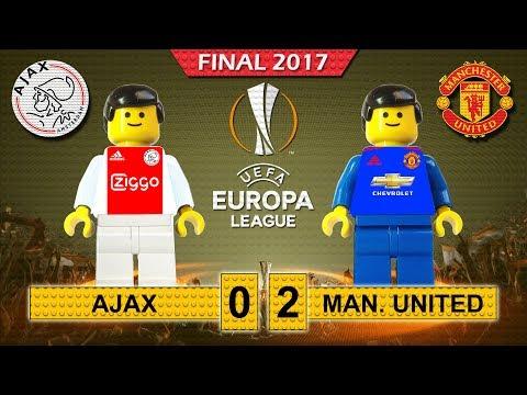 Europa League Final 2017 • Ajax vs Manchester United • goal highlights Lego Football film