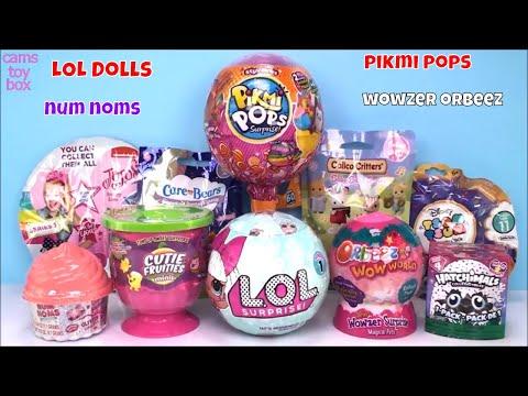 LOL Surprise Pikmi POPS Wowzer NUM NOMS Care Bears Toys Unboxing Fun Disney