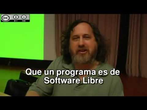 El Software Libre y la Educación   Richard Stallman Subtitulos Español) flv