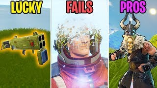 NEW SEASON 5 FUNNY MOMENTS! LUCKY vs FAIL vs PROS! - Fortnite Battle Royale Funny Moments